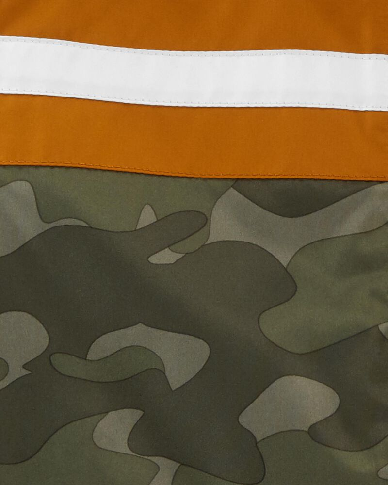 Fleece-Lined Camo Stripe Jacket, , hi-res