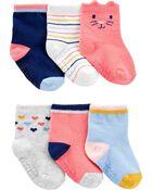 6 paires de chaussons chaton, , hi-res