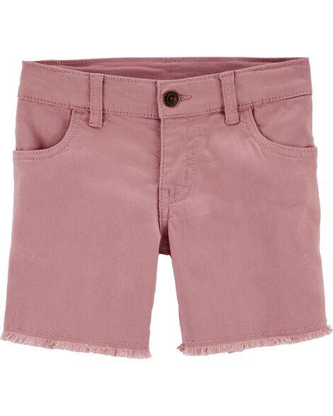 Frayed Twill Shorts