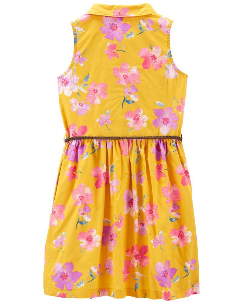 Floral Shirt Dress, , hi-res