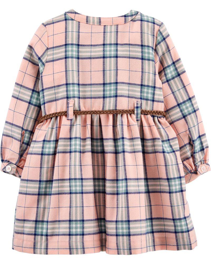 Plaid Shirt Dress, , hi-res