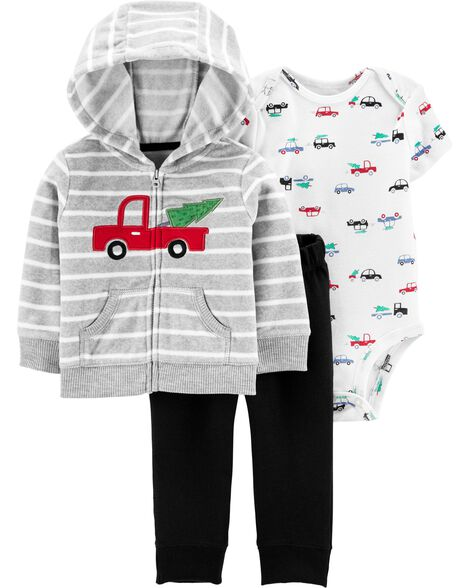 3-Piece Christmas Tree Little Jacket Set