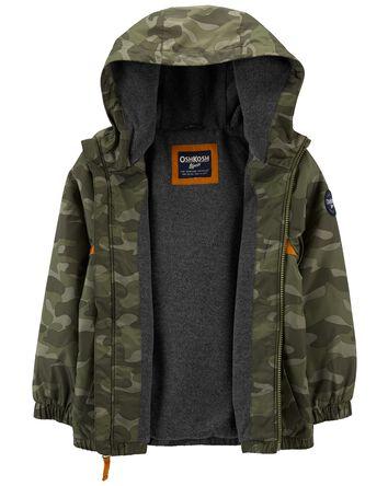Fleece-Lined Camo Stripe Jacket