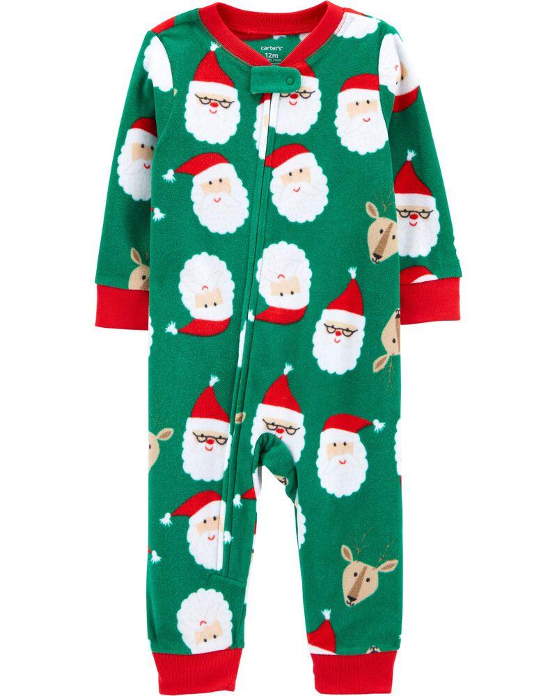 1-Piece Santa Fleece Footless PJs, , hi-res