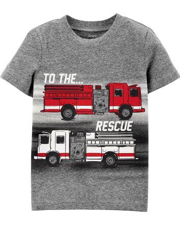 T-shirt en jersey chiné à camion d'...