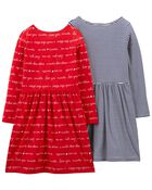 Emballage de 2 robes en jersey, , hi-res