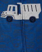 Grenouillère en coton pour dormir et jouer avec glissière 2 sens , , hi-res