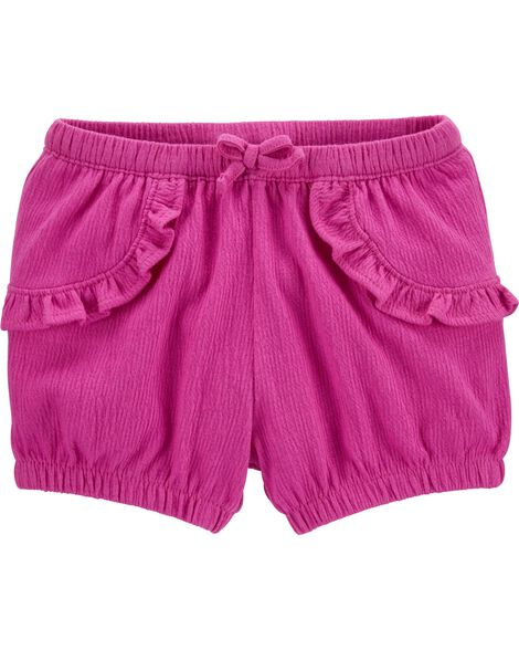 Crinkle Jersey Bubble Shorts