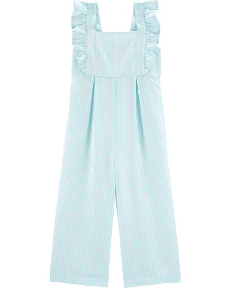 Striped Flutter Jumpsuit