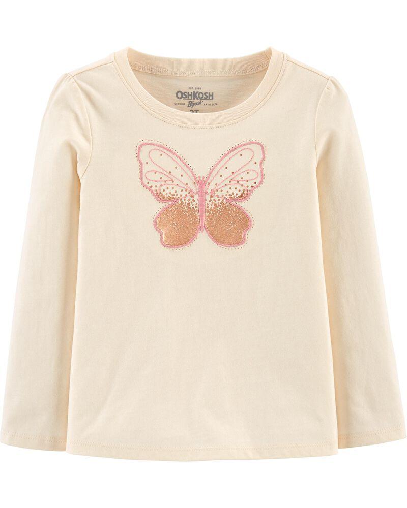 T-shirt à imprimé de papillons, , hi-res