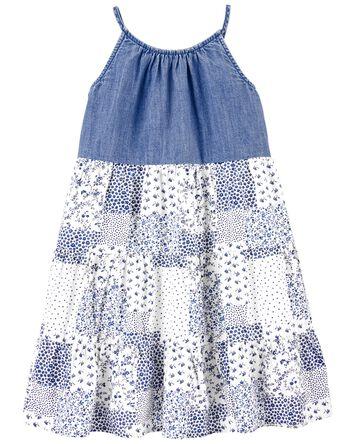 Denim & Patchwork Dress