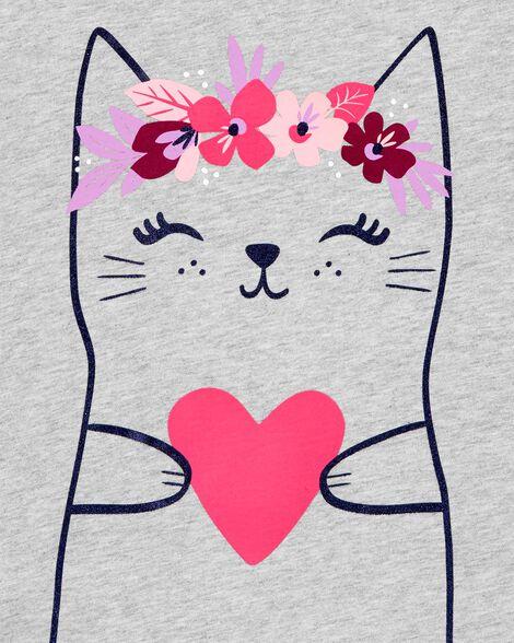 Heart Cat Jersey Tee