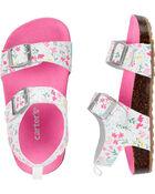 Floral Cork Sandals, , hi-res
