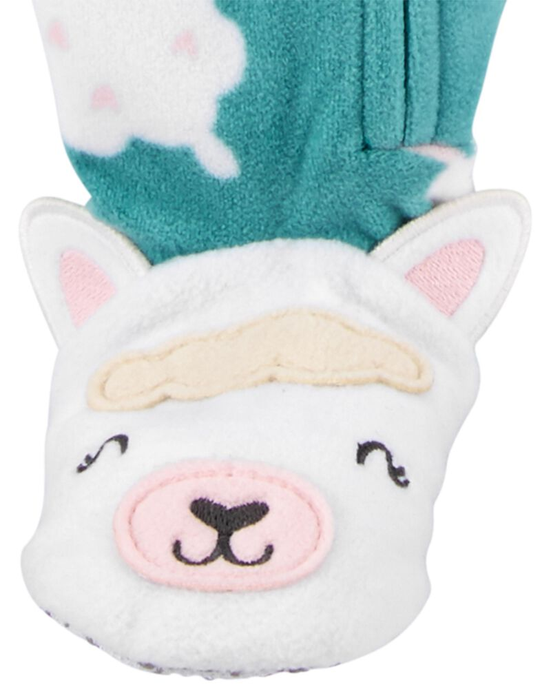 1-Piece Sheep Fleece Footie PJs, , hi-res