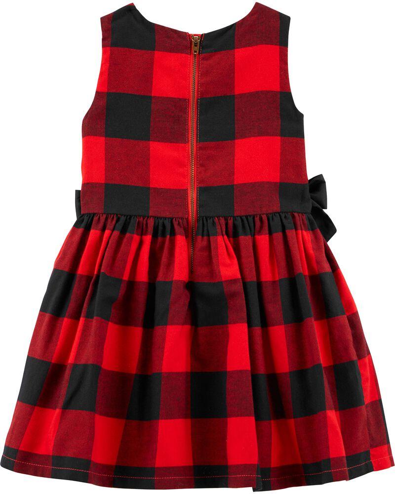 Buffalo Check Twill Dress, , hi-res