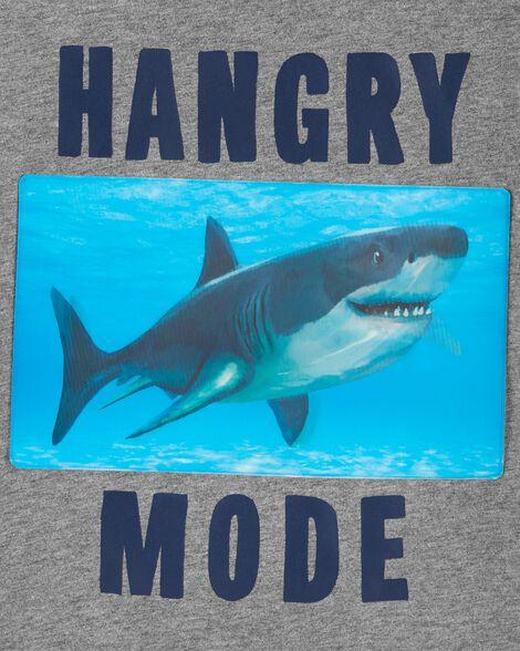 T-shirt en jersey à imprimé de requin