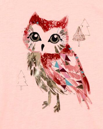 Slub Jersey Owl Hoodie