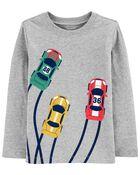 T-shirt en jersey à voiture de course, , hi-res
