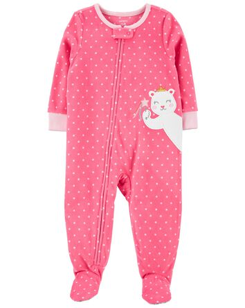 1-Piece Mouse Fleece Footie PJs