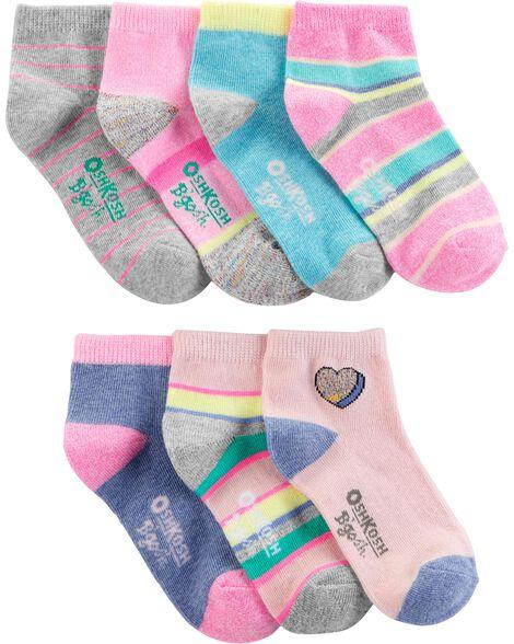7 paires de socquettes à rayures