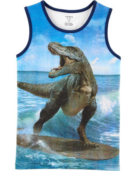 Débardeur en jersey à dinosaure surfeur