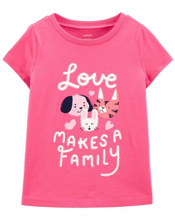 T-shirt en jersey Pet Family