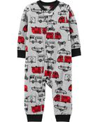 1-Piece Hero Vehicle Fleece Footless PJs, , hi-res