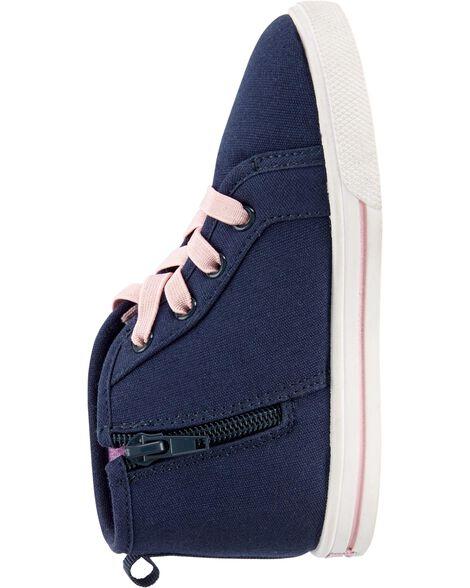 Sequin High-Top Sneakers