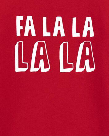 T-shirt en jersey Fa La La des Fête...