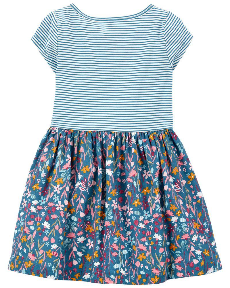 Mixed Print Shirt Dress, , hi-res