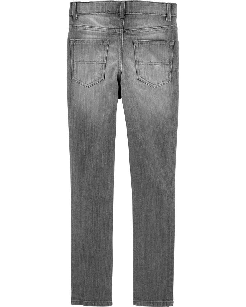 Jeans fuseau coupe régulière - délavage gris crépuscule, , hi-res