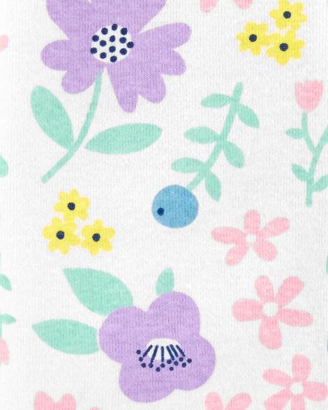 Floral 2-Way Zip Cotton Footless Sleep & Play
