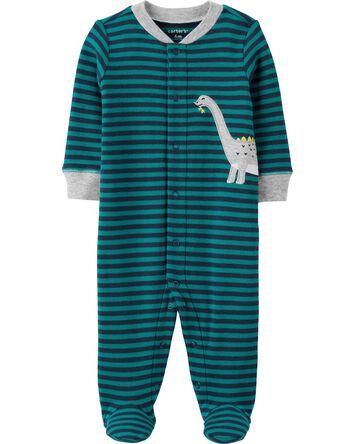 Dinosaur Snap-Up Cotton Sleep & Pla...