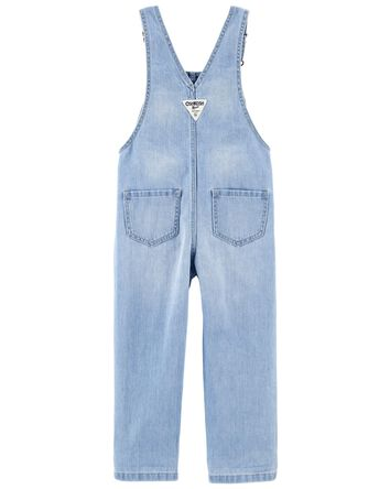 Crochet Trim Denim Overalls
