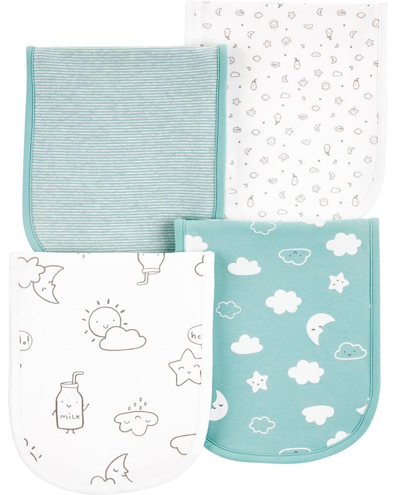 4-Pack Cloud Burp Cloths, , hi-res