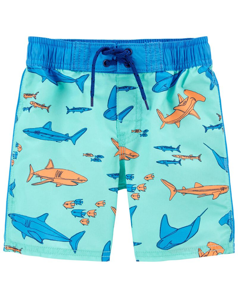Super Sharky Swim Trunks, , hi-res