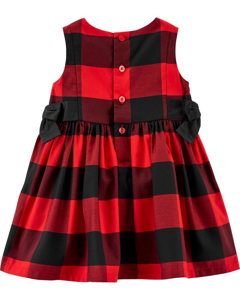 Buffalo Check Sateen Dress, , hi-res