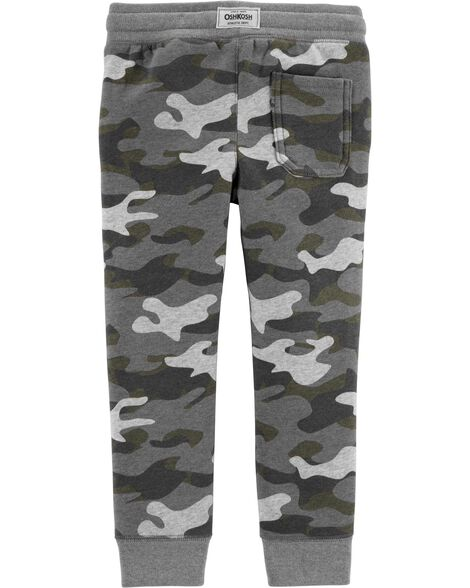 Pantalon molletonné à logo camouflage