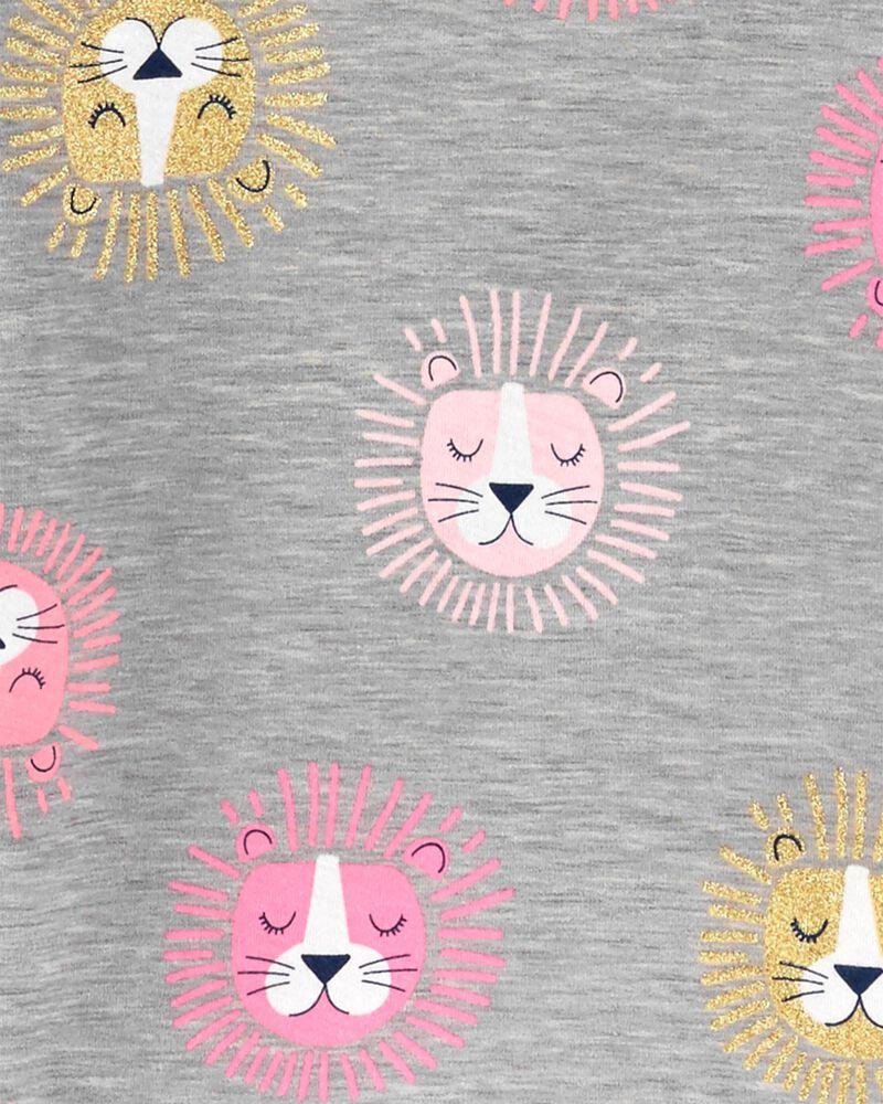 Ensemble de deux robes en jersey à motif de lions et cœurs, , hi-res