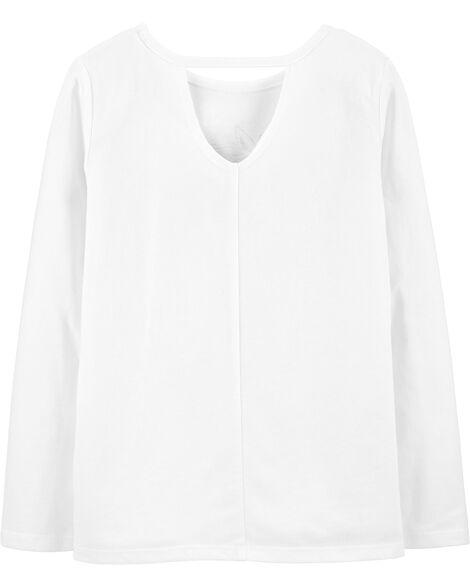 T-shirt en jersey à nœud devant et licorne scintillante