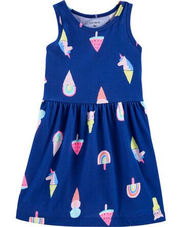 Ice Cream Tank Jersey Dress