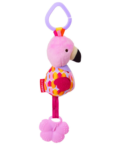 Bandana Buddies Chime & Teethe Toy - Flamingo