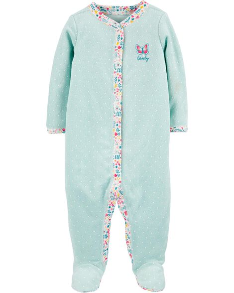 Butterfly Snap-Up Cotton Sleep & Play