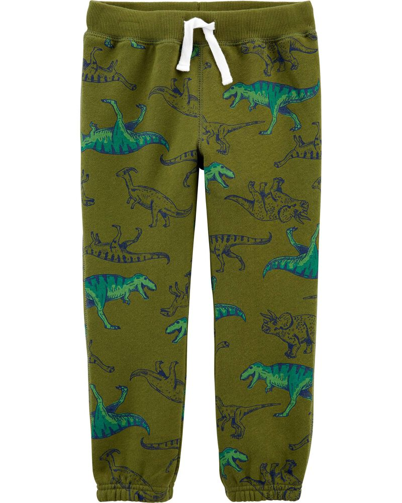 Dinosaur Pull-On Fleece Pants, , hi-res