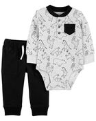 2-Piece Animal Bodysuit Pant Set, , hi-res