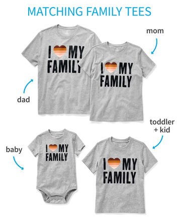 Family Matching Love Tees