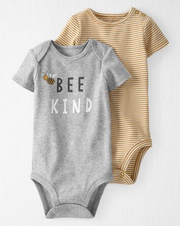 2-Pack Organic Cotton Bee Kind Body...