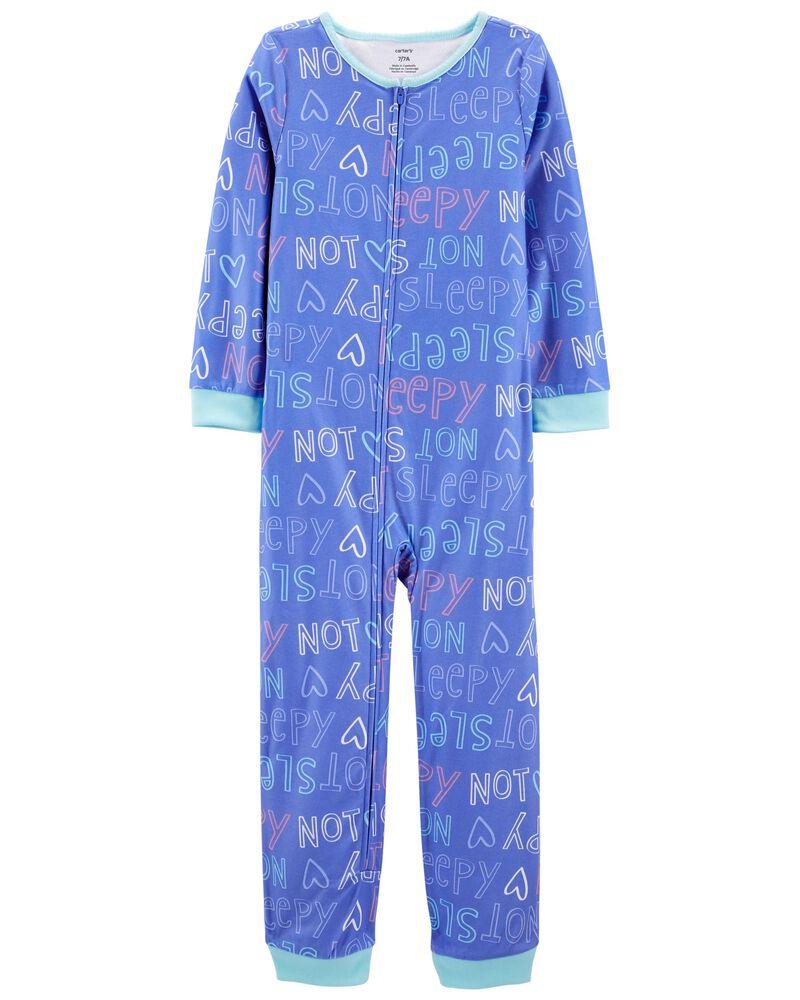Pyjamas en molleton 1 pièce sans pieds Not Sleepy, , hi-res