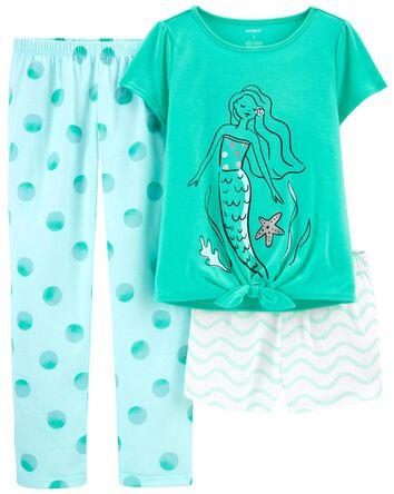 3-Piece Mermaid Loose Fit PJs