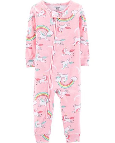 1-Piece Unicorn Snug Fit Cotton Footless PJs